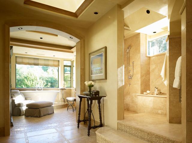 Woodside Residence mediterranean-bathroom