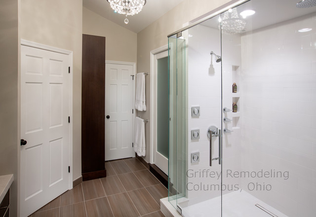 Worthington, Ohio, Master Suite Renovation contemporary-bathroom