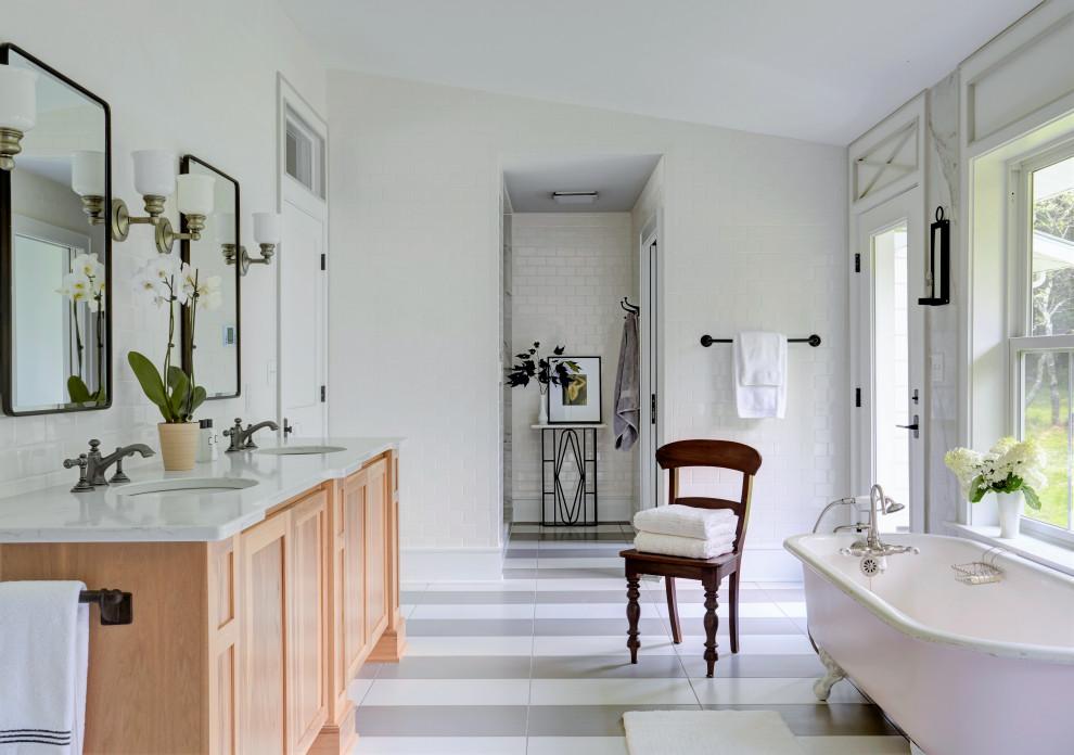 Bathroom - farmhouse bathroom idea in Other