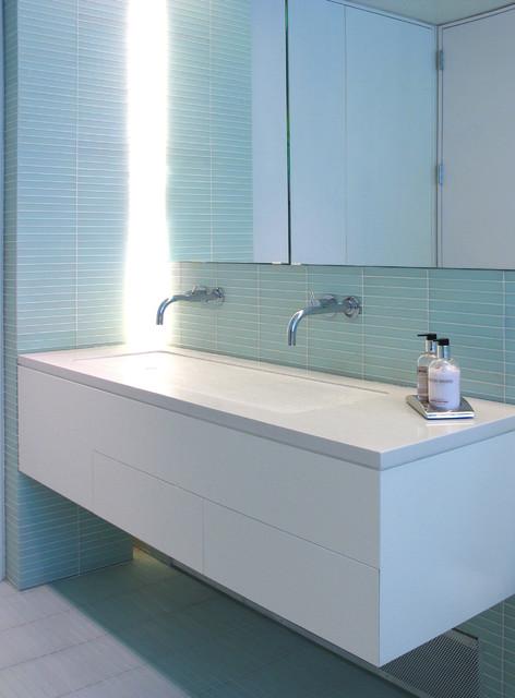 Wyckoff St Townhouse Interior - Master Bath - Contemporary - Bathroom - new york - by Sarah ...