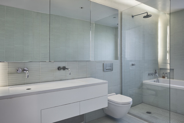 Wyckoff St Townhouse Interior Master Bath Contemporary