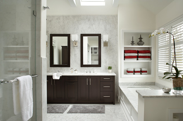 Wyckoff Transitional Contemporary Master Bathroom Transitional Bathroom New York By