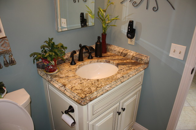 Yellow River Granite Counter Tops Traditional Bathroom