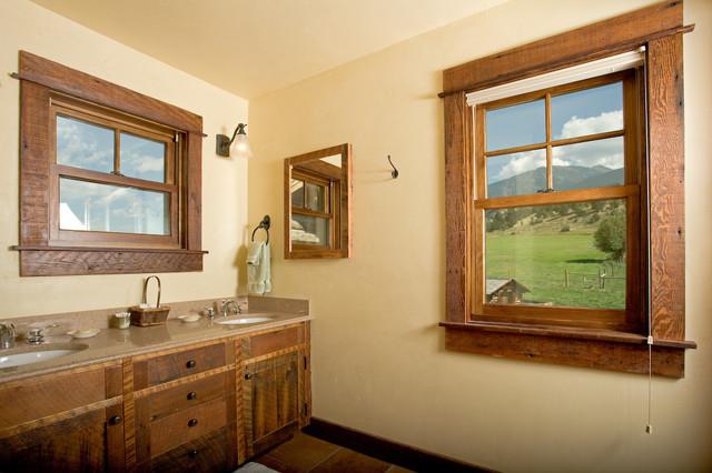 Yellowstone Homestead eclectic-bathroom