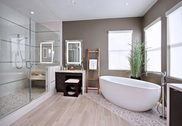 Yorba Linda Master Bathroom contemporain-salle-de-bain