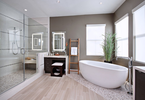 Contemporary Bathroom by Irvine Interior Designers & Decorators International Custom Designs