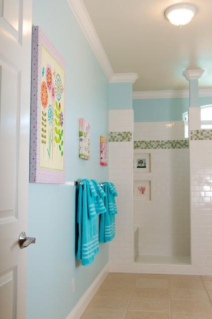 Young Family Home contemporary-bathroom