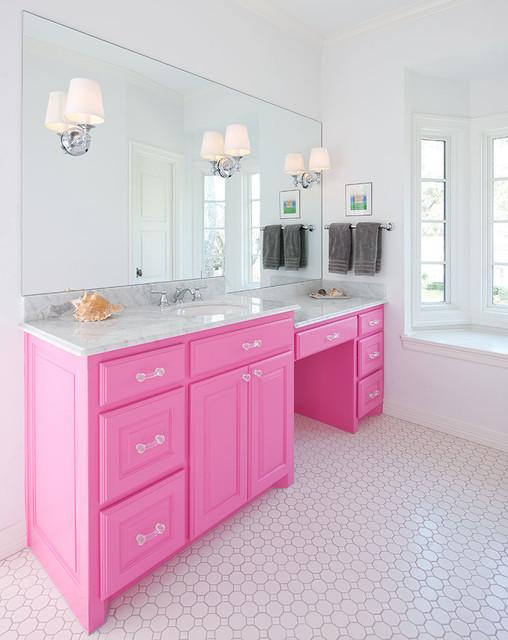 Young girls bathroom traditional bathroom dallas for Bathroom remodel 10k