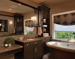 Your Day Begins Here transitional-bathroom