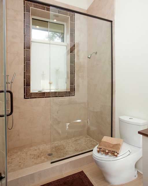Awesome What Makes Small Bath Feel Larger Shower Tile To Ceiling Or No