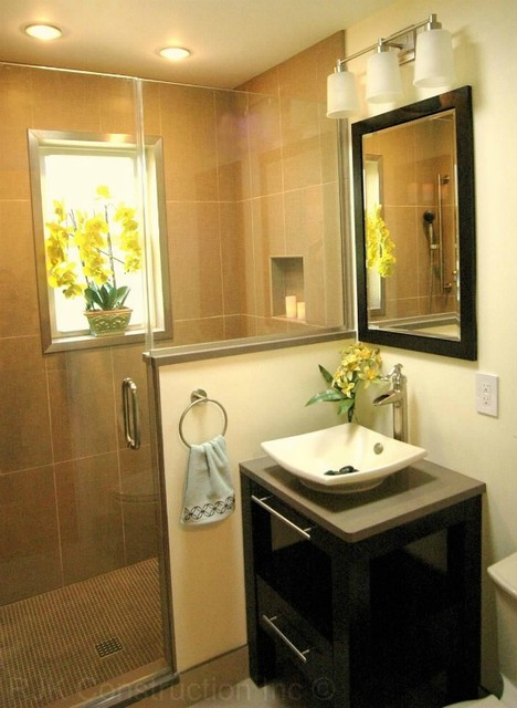 zen bathroom with integrated cabinetry modern bathroom