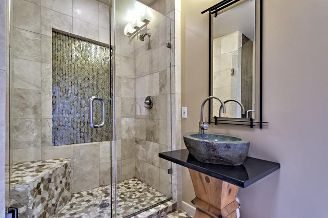 Zen Craftsman Bungalow Transitional Bathroom