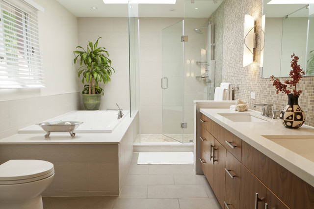 Zen ensuite contemporary bathroom toronto by biglarkinyan design planning inc Ensuite bathroom design layout