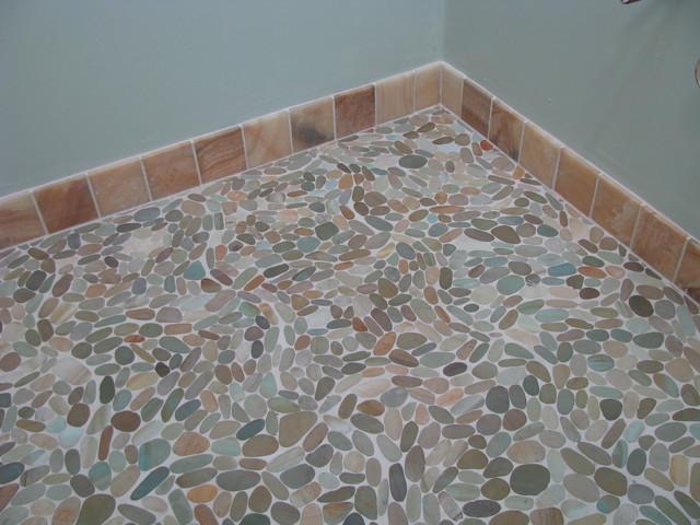 Zen Paradise Wave Style Stone Tiles tropical-bathroom
