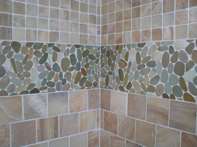 Zen Paradise Wave Style Stone Tiles Tropical Bathroom