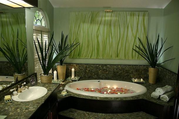 Zen Paradise Eclectic Bathroom