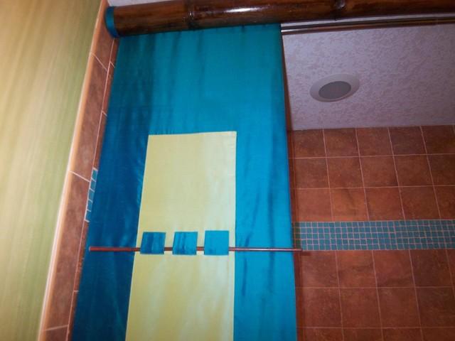 Zen-sational Guest Bath asian-bathroom