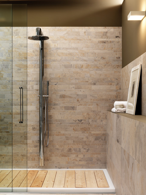 Zen Shower Amp Wainscott Craftsman Bathroom San Diego