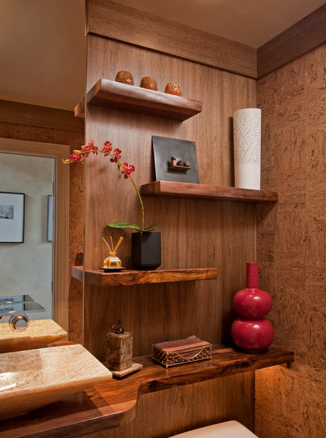 Zen Spa Powder Room Remodel Media Pa Contemporary