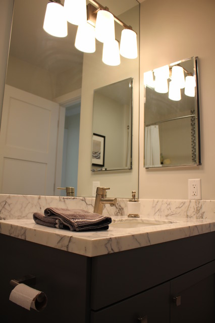 Zen townhouse contemporary bathroom san francisco for Townhouse bathroom ideas