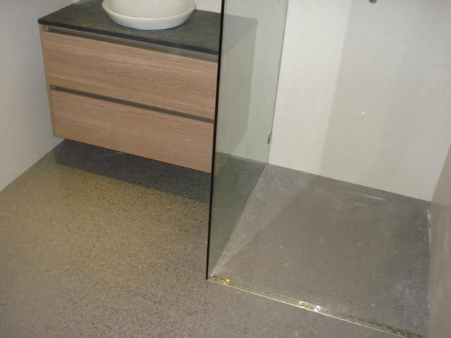Zero Entry Glass Shower Cabinet Modern Bathroom