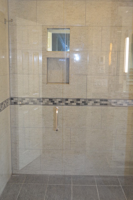 Zero Entry Shower Blue Ash Oh Contemporary Bathroom