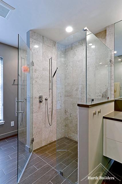Zero Threshold Shower Contemporary Bathroom