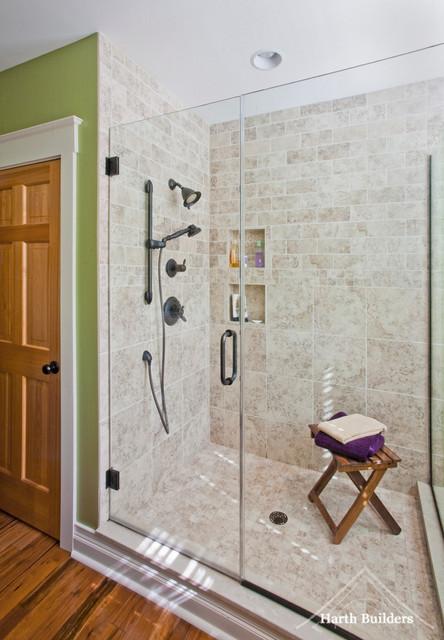 Zero Threshold Shower Bathroom Philadelphia By Harth Builders