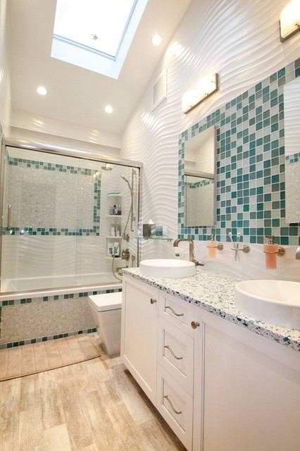 Zillow digs featuring susan jablon tiles for Zillow bathrooms