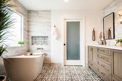 Bathroom of the Week: Neutrals Warm a Contemporary Master Bath