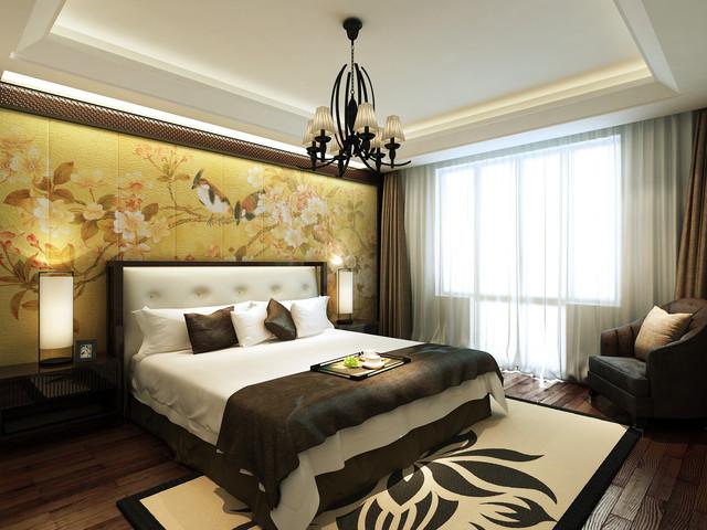 半岛华府爱琴岛 asian-bedroom