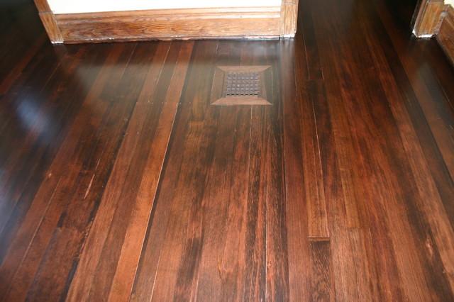 100 Year Old Douglas Fir Flooring Restoration Traditional Bedroom