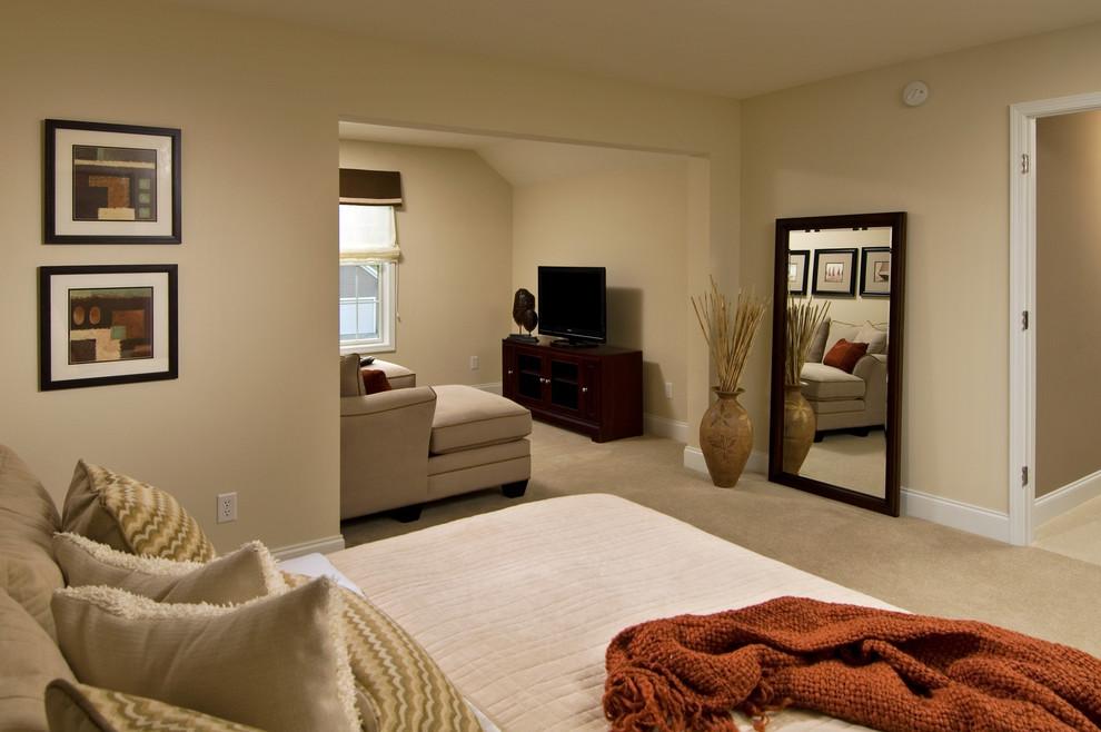 Trendy bedroom photo in Boston