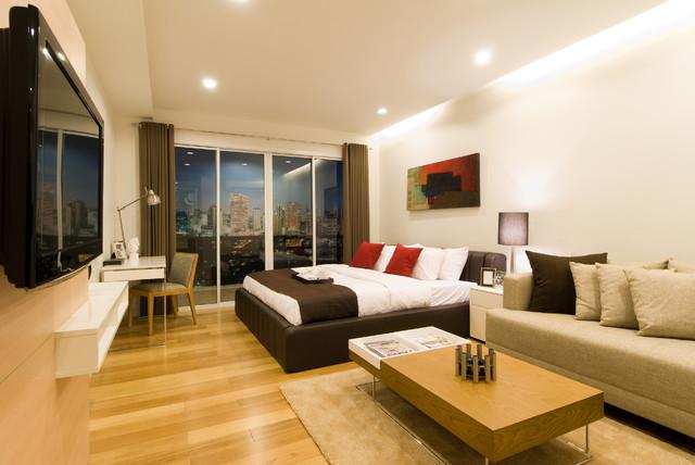 15 Sukhumvit Residences contemporary-bedroom