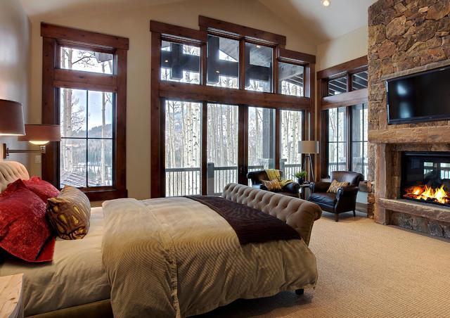 177 white pine - new build rustic-bedroom