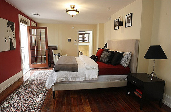 Inspiration for a contemporary bedroom remodel in Philadelphia
