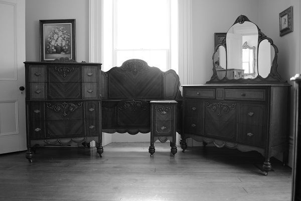 1930s Fancy Four Piece Bedroom Set SOLD