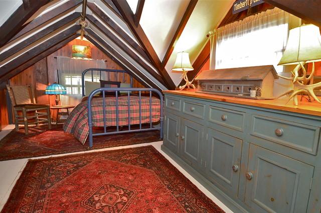 1934 Lake Mohawk Nj Log Cabin For Sale Rustic Bedroom