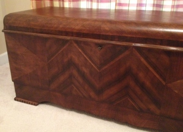 1942 Lane Cedar Chest Restored Traditional Bedroom
