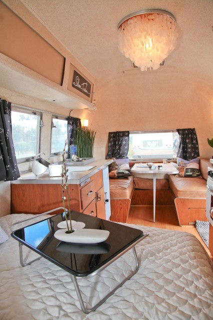 1960 Airstream Carvel Interior Modern Bedroom San