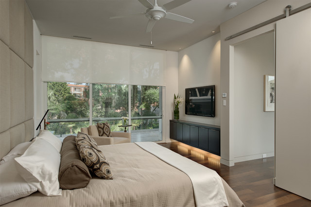 2012 New American Home contemporary-bedroom