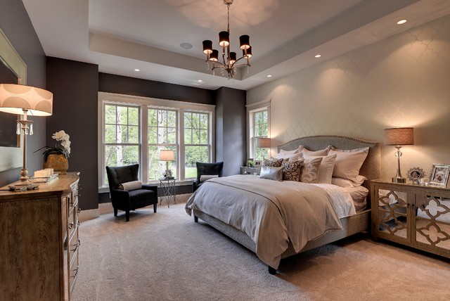 2013 luxury home inver grove heights traditional Houzz master bedroom photos