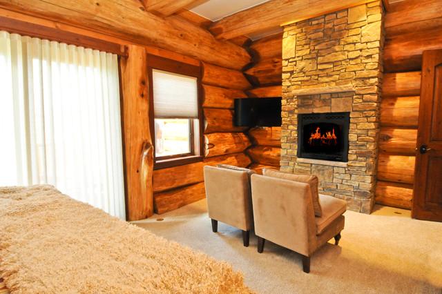 2013 Parade Home Moose Ridge Cabin Log Home traditional-bedroom
