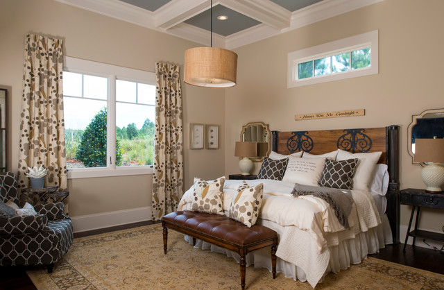 2013 southern living custom builder showcase home rustic bedroom