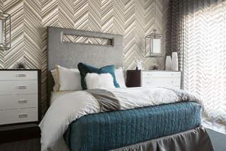 2014 New American Home Contemporary Bedroom Las