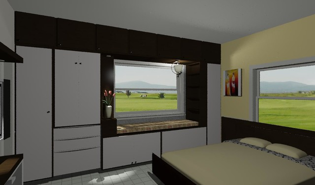 2BHK Apartment Interiors Hyderabad Contemporary Bedroom