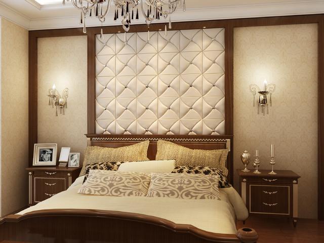 3D Leather Tile For Bedroom Design Modern Bedroom