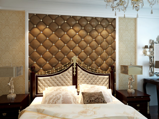 3D Leather Tiles For Bedroom Design Modern Bedroom