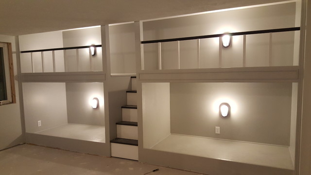 4 Built In Bunk Beds Contemporary Bedroom Other