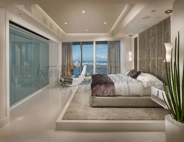 4 Story Penthouse Miami Contemporary Bedroom Miami